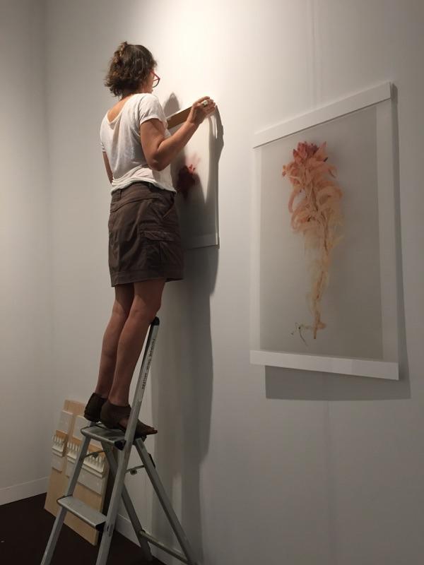 Setting up at PULSE ArtFair